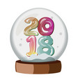 snow globe with 2018 isolated vector image vector image