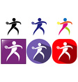 Sport icon design for discus throwing vector image vector image