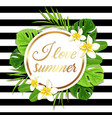 summer round tropical background vector image vector image