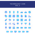 technology filled outline icon set vol2 vector image vector image