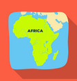 territory of africaafrican safari single icon in vector image