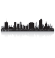 Tulsa USA city skyline silhouette vector image vector image