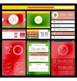 Ui flat web and mobile element vector image