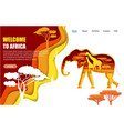 welcome to africa website landing page vector image