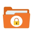 folder lock icon vector image