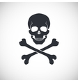 Skull and crossbones sign vector image