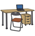 Desk and chair vector image