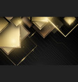 abstract geometric gold luxury technology vector image