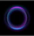 abstract neon circles banner blank 3d light