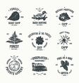 Adventure camp emblems vector image