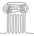 ancient greek column vector image