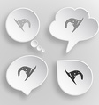 Astrologers hat White flat buttons on gray vector image