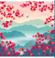 autumn landscape with mountains and japanese vector image vector image