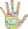 Background colors with the inscription Brazil Rio vector image vector image