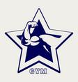 ballpoint pen gym poster vector image vector image