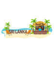beach bar sri lanka travel palm drink summer vector image vector image