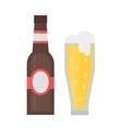 Beer glass bottle vector image vector image