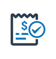 bill paid icon vector image
