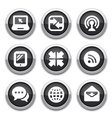 black communication buttons vector image vector image
