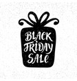 black friday sale unique banner hand lettering vector image vector image