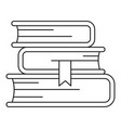 book stack icon outline style vector image vector image