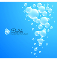 Bubbles Underwater Background vector image