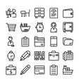 business and office line icons 8 vector image vector image