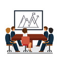 business meeting marketing presentation cartoon vector image
