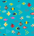 cartoon fish pattern vector image