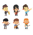 cartoon musicians vector image vector image
