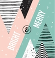 Christmas card Abstract geometric scandinavian vector image vector image