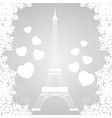 christmas card with eiffel tower vector image vector image