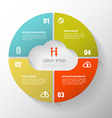 Circle step cloud concept with icons vector image vector image