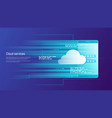 cloud services remote data storage concept vector image