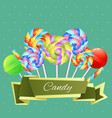 colorful candies composition vector image vector image