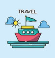 cruise maritime tourist vacation travel vector image