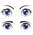 Cute Stylized Eyes vector image