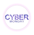 Cyber Monday Sale sign template Promotional vector image vector image