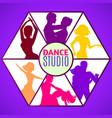 dance studio template vector image vector image