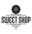 dessert shop logo simple black style vector image vector image