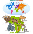 educational funny african animals vector image vector image