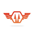 Electricity power wings icon design symbol vector image