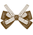 engraving bow vector image vector image