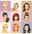 Fashion Girl Characters Avatars vector image