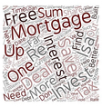 Find A Great Remortgage Deal text background vector image vector image