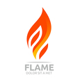 flame fire design luxury logo design vector image vector image