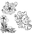 floral decorative design elements for invitations vector image vector image