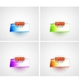 Glossy 3d shelf backgrounds vector image