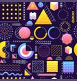 gradient memphis seamless pattern vector image vector image