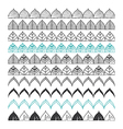Hand drawn borders design elements pattern brush